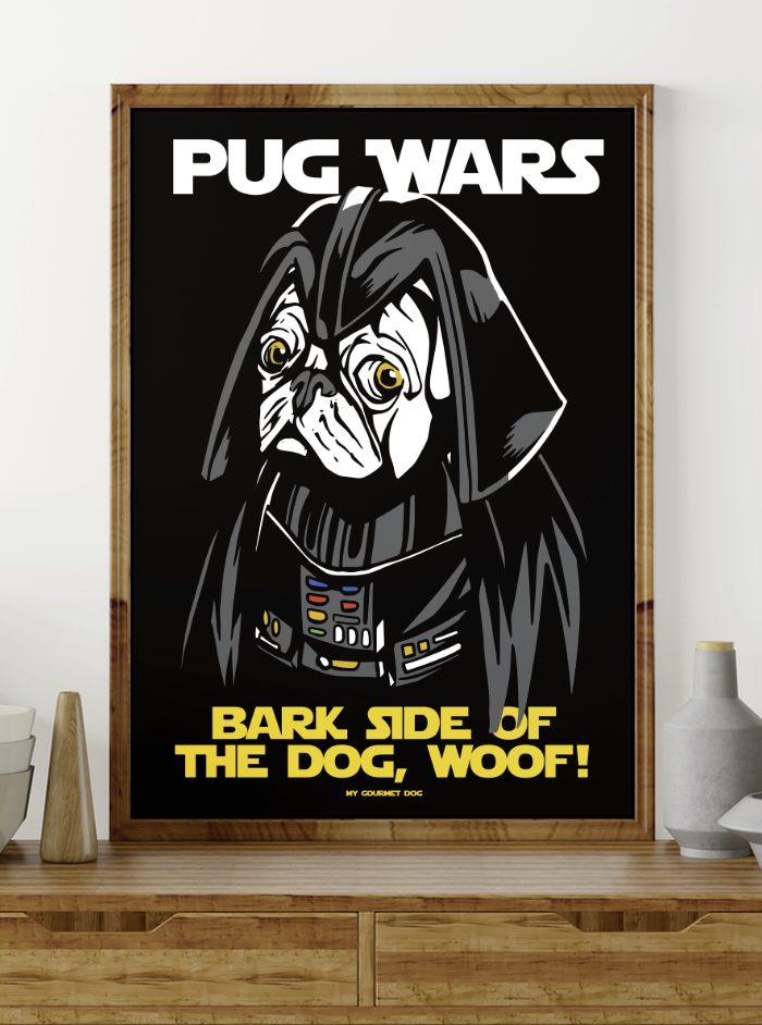 star wars dog wall art to download